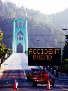 accident up ahead
