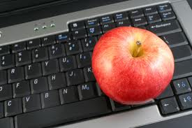 apple at desk