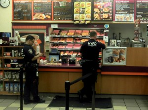 cops at dunkin