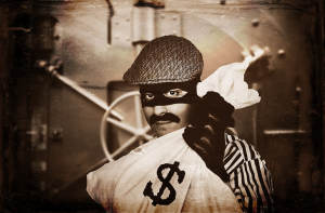 old fashioned bank robber
