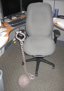 chained to chair