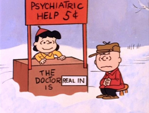 peanuts lucy therapist