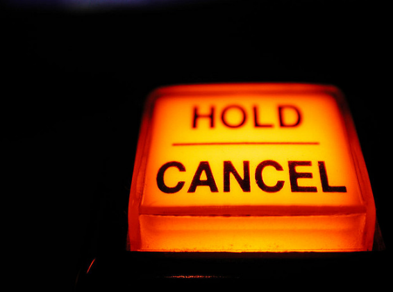 hold cancel button