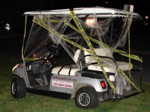 haunted golf cart